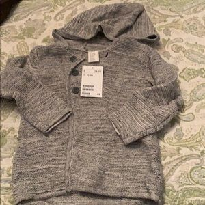 Grey sweater coat size 12-18 months